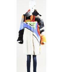 marco de vincenzo faux fur knee length coat