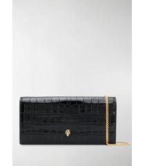 alexander mcqueen crinkled leather clutch bag