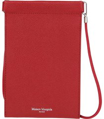 red leather phone case