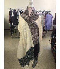 womens oversized scarf lady blanket wrap mixed colors pashmina scarf shawl new