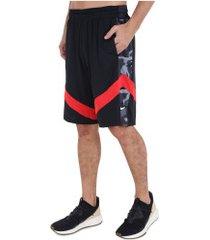 bermuda nike courtlines print - masculina - preto/vermelho