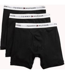 tommy hilfiger men's classic cotton boxer brief 3pk black - l