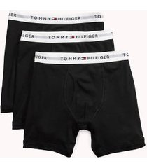 tommy hilfiger men's classic cotton boxer brief 3pk black - s