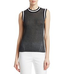 priya semi-sheer lurex tank top
