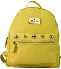 mochila de cuero amarilla merope jana