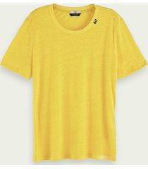 scotch & soda lichtgewicht t-shirt van gerecycled materiaal