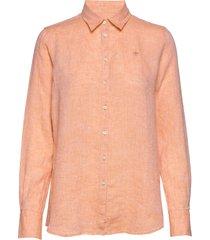 kirsten linen shirt overhemd met lange mouwen oranje morris lady