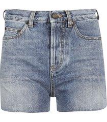 saint laurent distressed edges shorts