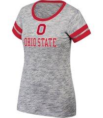 top of the world women's ohio state buckeyes tiebreaker ringer t-shirt