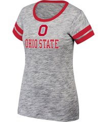 top of the world women's ohio state buckeyes tiebreaker ringer t-shirt