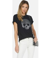 capri nailhead skull - black xl