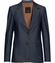 3395 - ginette blazer colbert blauw sand