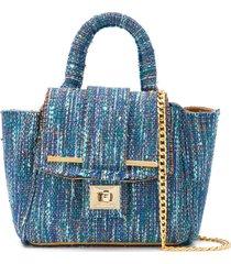 alila small tweed tote bag - blue