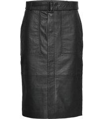 alia knälång kjol svart custommade