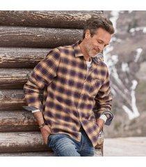 sundance catalog men's davison shirt in cream/purp small