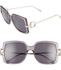 women's salvatore ferragamo gancio 55mm square sunglasses -