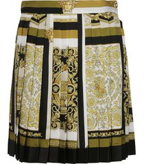 versace all-over printed short skirt