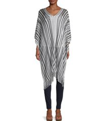 missoni women's chevron striped poncho - black white