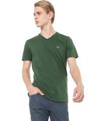 camiseta lacoste bã¡sica verde - verde - masculino - algodã£o - dafiti