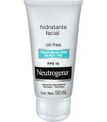 neutrogena hidratante facial oil-free fps15 - todos os tipos de pele 50ml - kanui