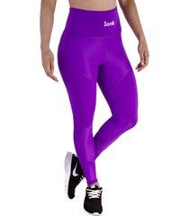 leggings morado - cintura anatómica con control