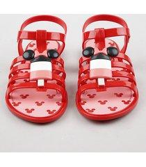 sandália infantil grendene minnie com picolé vermelho
