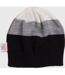 gorro kidsplash! preto/off white/cinza