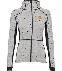 maven wool fullzip hood sweat-shirts & hoodies fleeces & midlayers grijs johaug
