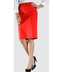 kjol i stretchmaterial m. collection röd