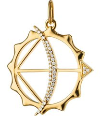 monica rich kosann 18kt yellow gold diamond apollo bow arrow charm
