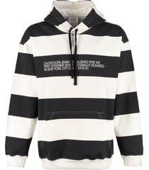 calvin klein jeans striped cotton hoodie