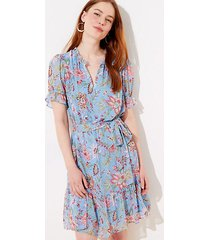 loft garden tie waist flounce dress