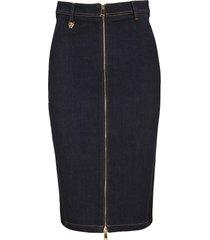 versace zipped denim skirt