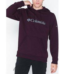 columbia basic logo hoodie tröjor cherry