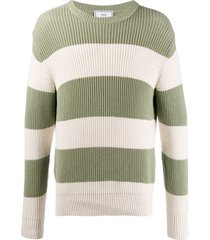 ami paris ribbed crew neck knitted sweater - green