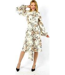 wiskozowa sukienka z japońskim pasem