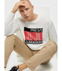 j lindeberg auguste-wool coolmax tröjor white