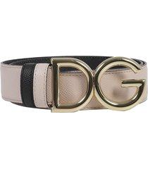 dolce & gabbana pink logo belt