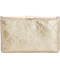 inc terri diamond mesh clutch, created for macy's