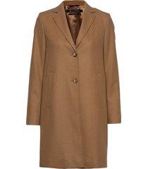 woven coats wollen jas lange jas bruin marc o'polo