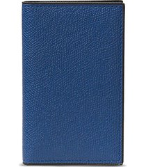 leather business card holder - royal blue