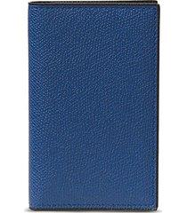 leather business card holder - royal blue