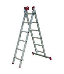 escada dupla extensiva alumínio 3.30m worker 187739 pés emborrachados