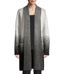 speckle print open front cardigan
