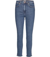 retro skinny indigo mid skinny jeans blå wrangler