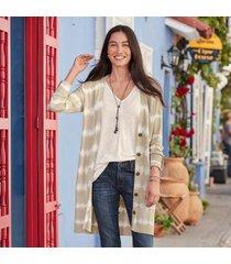 sundance catalog women's bleached sands cardigan in beige xs