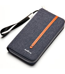 c53a64f559 clutch con cerniera per canvas borsa portafoglio retrò multi-card per uomo
