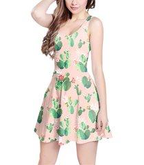 cactus in bloom sleeveless dress