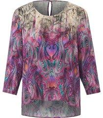 blouse met 3/4-mouwen van uta raasch multicolour