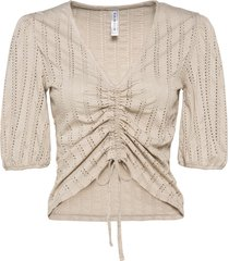 maglia con maniche a palloncino e allacciatura (grigio) - rainbow